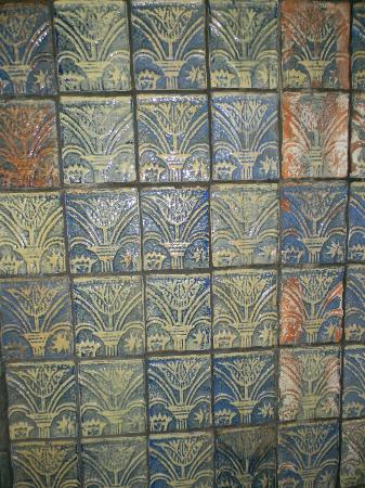 Moravian Pottery and Tile Works : wall of tiles