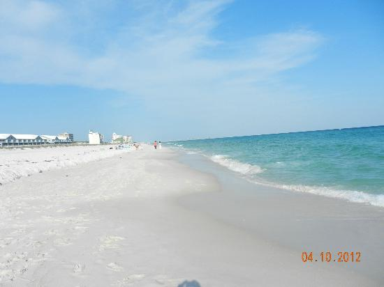 Pensacola Beach: not crowded here across from Villa Sabine Bay