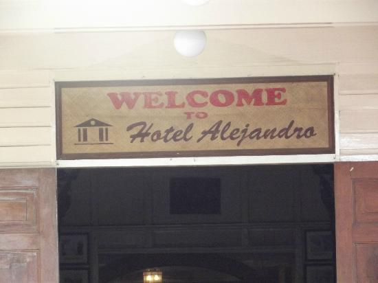 Hotel Alejandro: welcome