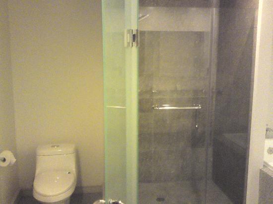 La regadera y el ba o de la habitacion principal separados for Regaderas para bano