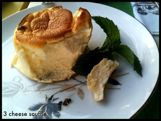 Coral Lee: 3 cheese souffle