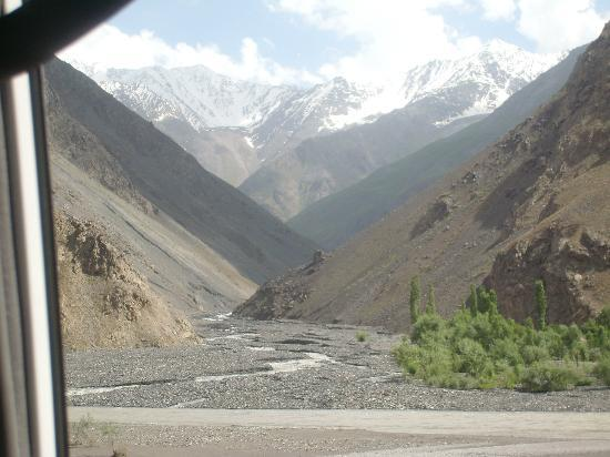Pamir Highway looking towards Aghanistan