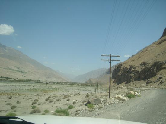 Pamir Highway on way back from Ishkashim