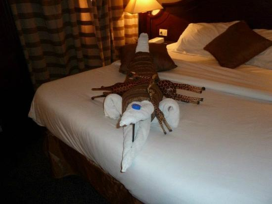 Amarante Isis: Towel animals greeted us daily!