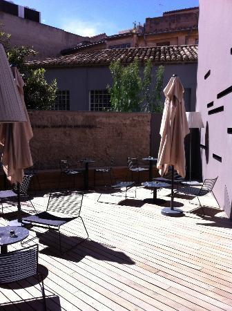 Caro Hotel: terraza