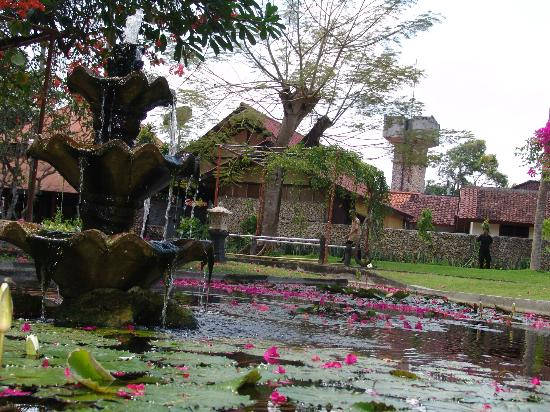 Dhyana Pura Beach Resort: water fountain