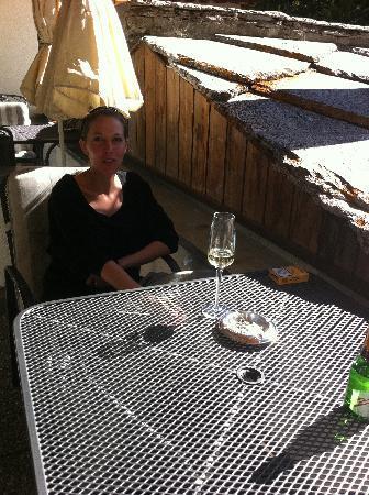 Wellness and Vitalhotel Pirmin Zurbriggen : terrasse