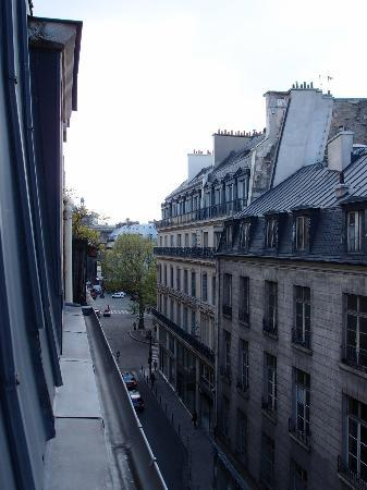 Montpensier: View from window to street