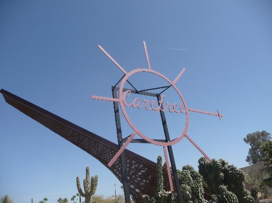 Carefree Sundial : an interesting piece of sculpture.