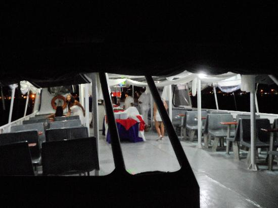 Hotel Portofino: en el barco durante la salida nocturna, genial