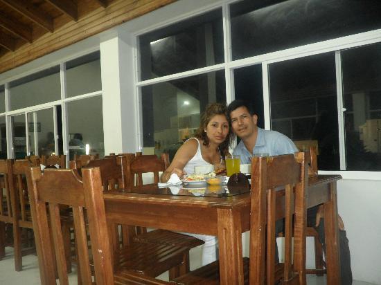 Hotel Portofino: en el restaurante con una bonita vista