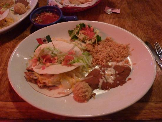 No Way Jose's Cantina : Chicken taco fajitas