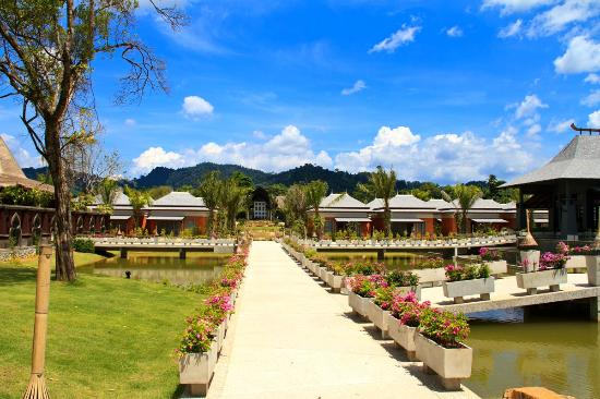 Beyond Resort Khaolak: View from poolside villas to the reception