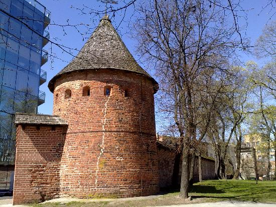 Kaunas, Litvanya: miller tower of old city defence wall