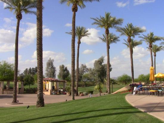 Legacy Golf Resort: Golf course/rear of main resort area