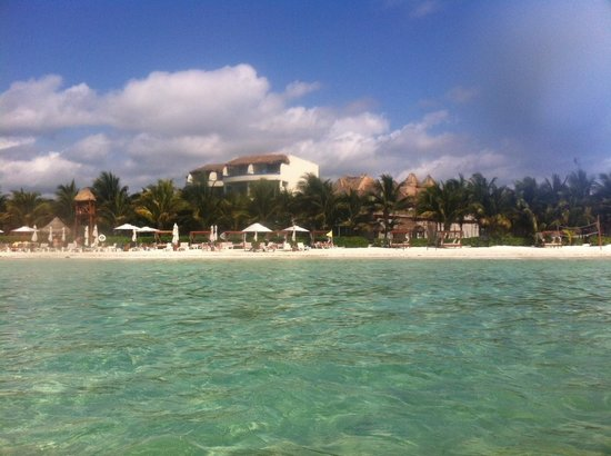 El Dorado Maroma, a Beachfront Resort, by Karisma: view from the sea