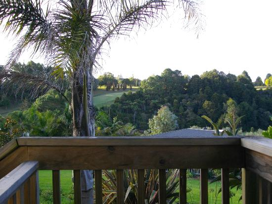 View from deck to golf course beyond