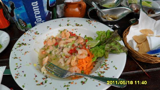 Fusion Bar & Restaurant: Fresh ceviche!