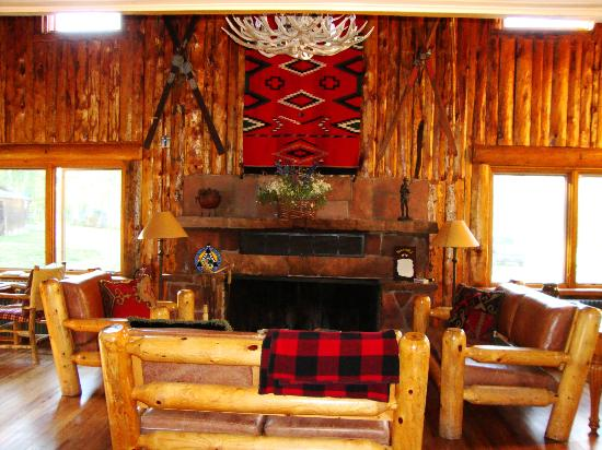 Meredith, CO: Fireplace in main lodge
