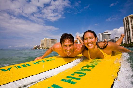 Honolulu, Hawaje: Surf lessons in Waikiki