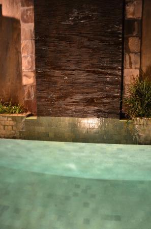 The Ahimsa Estate: Pool by night