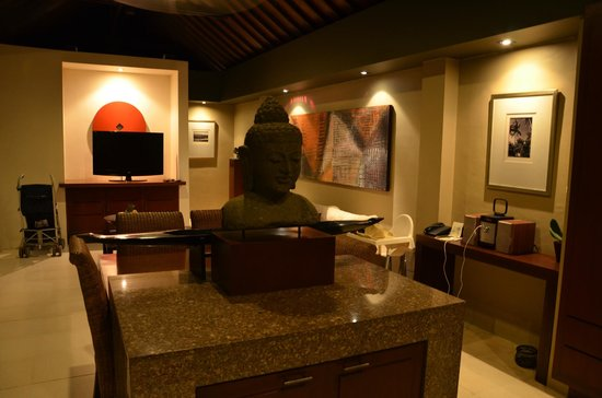 The Ahimsa Estate: Villa interior by night