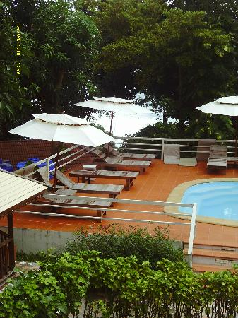 On the Hill Karon Resort: view of the pool from our balcony
