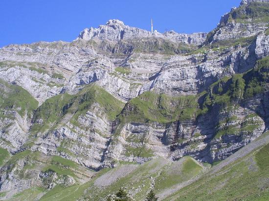 Säntis der Berg: Blick von der Schwägalp zum Säntis