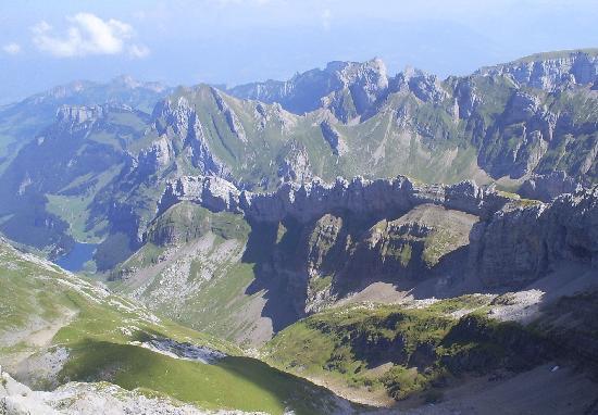 Säntis der Berg: Blick vom Säntis 2502 m