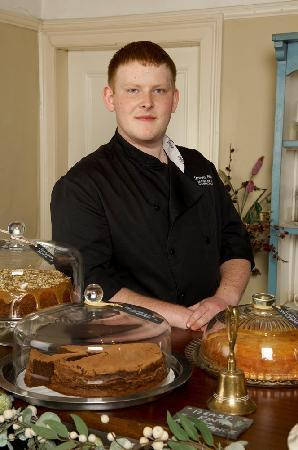 The Garden Tea Room & Delicatessen: Sam and some of his delicious cakes