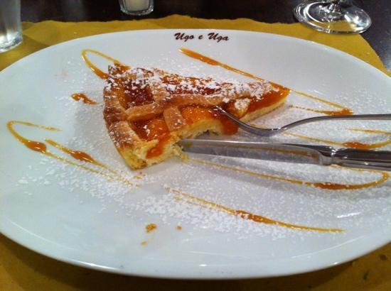 Trattoria Ugo e Uga : crostata di marmellata all'albicocca