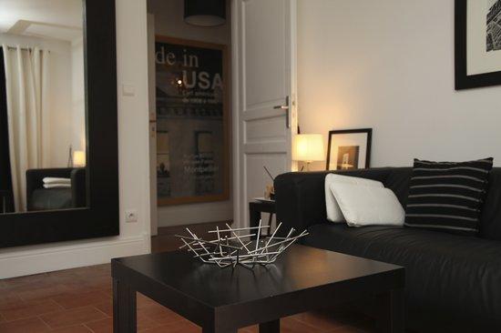 Le Mas de Bassette Maison d'hotes: La suite du cottage, le salon