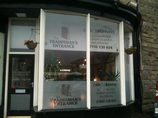 The Tradesman's Entrance Cafe: the entrance