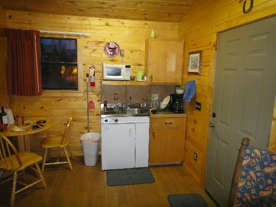 Fireside Inn & Cabins: kitchenette