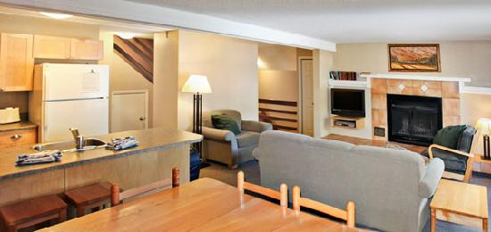 Panorama Vacation Retreat at Horsethief Lodge: Living Room of a Two Bedroom Unit