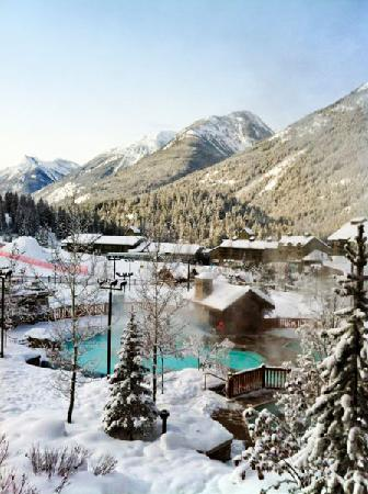 Panorama Vacation Retreat at Horsethief Lodge: Jacuzzi's at the Upper Resort in Winter