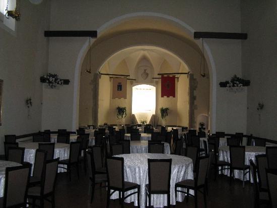 أبازيا دي كوليميديو: alte Klosterkapelle wird als zuätzlicher Speisesaal genutzt