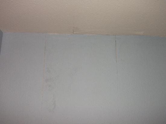 Rosemount Hotel: Bedroom wallpaper peeling off, damp dog smell throughout