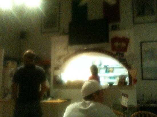 Bobby V's Italian Restaurant Pizzeria: Bobby V's - Inside Restaurant/Kitchen View