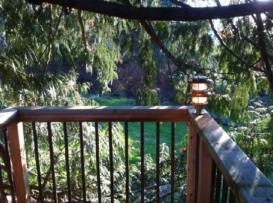 The Salish Seaside Escapes: Screech Owl Swoop winding staircase