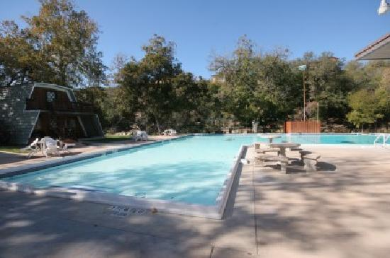 Heidelberg Lodges: Our large pool. There's also a big, 3' deep kiddie pool nearby.