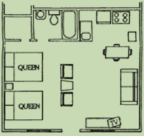 Heidelberg Lodges: Efficiency unit floorplan