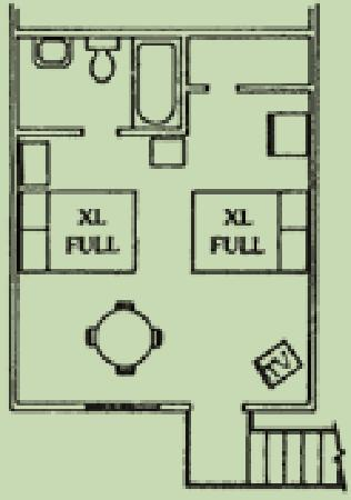 Heidelberg Lodges: Motel room floorplan