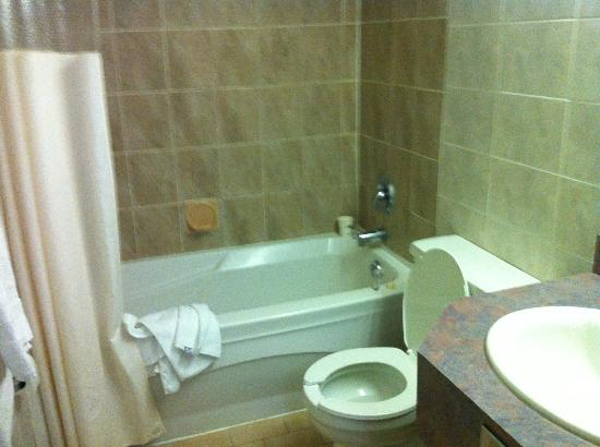 Howard Johnson Hotel Toronto Yorkville: Pic of the bathroom (messed up by us)