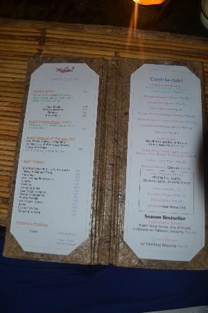 Kalui Restaurant Menu
