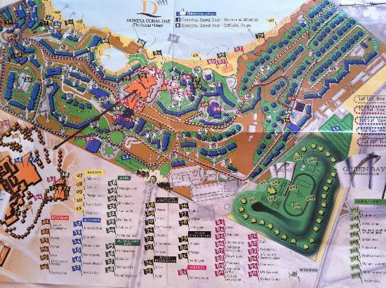 Domina Coral Bay Oasis: Mappa dell'hotel!!