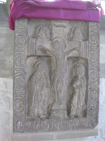 St. Dunstan's Church: The 10th century rood stone is a relic from the church built by St. Dunstan.