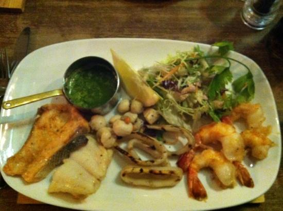 The Italian Farmhouse: seafood mixed grill