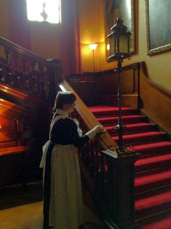 Altrincham, UK: The Maid Cleaning Polishing The Banister