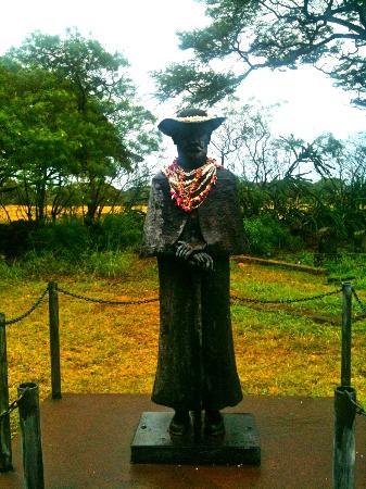 St. Joseph's Catholic Church : Statue of Father Damien at St. Joseph's Church - Molokai
